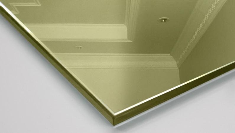 Зеркало декоративное тонированное Pink Silver (золото)