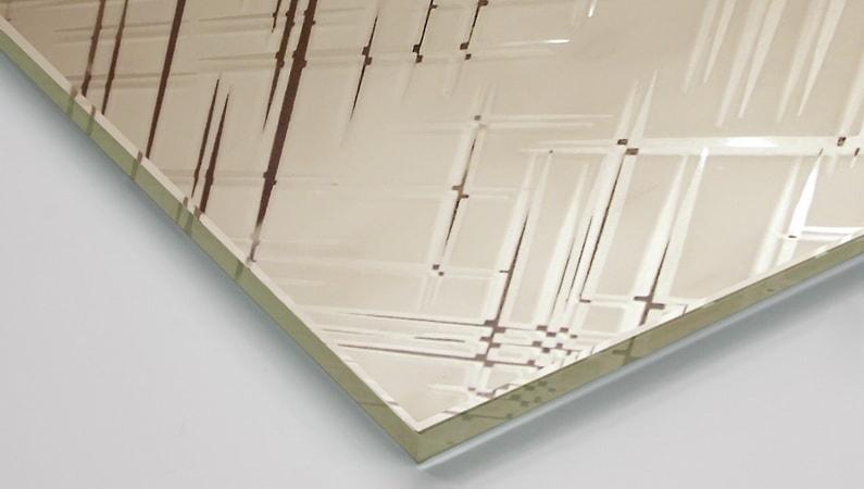 Зеркало декоративное «Лабиринт»бронза сатин